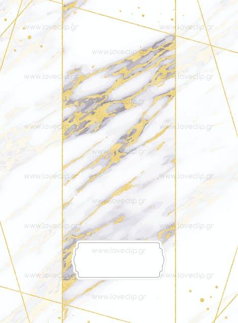 LOVE CLIP - GOLD N' MARBLE