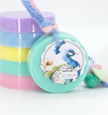 Αρωματικό Σαπούνι Στρογγυλό & Ετικέτα Craftie