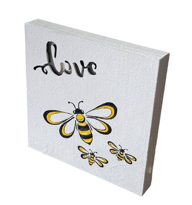 Καδράκι LOVE Μελισσούλες