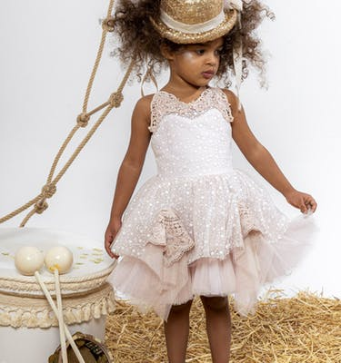 TAMARA Τούλινο Κεντημένο Φόρεμα