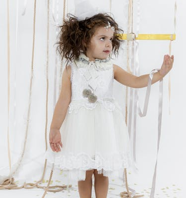 FLORENTINA Εκρού Κλασικό Φόρεμα
