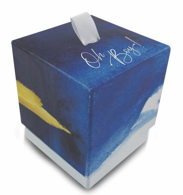 Κουτί 7.5x7.5x8.5 Με Κορδέλα Εκτύπωση Στο Καπάκι