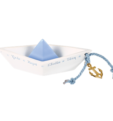 Μπομπονιέρα Βάπτισης Βάρκα Ευχών