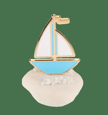 Μπομπονιέρα Βάπτισης Καραβάκι σε Βότσαλο