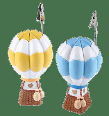 Μπομπονιέρα Βάπτισης Αερόστατο Κλιπ (σετ των 2)