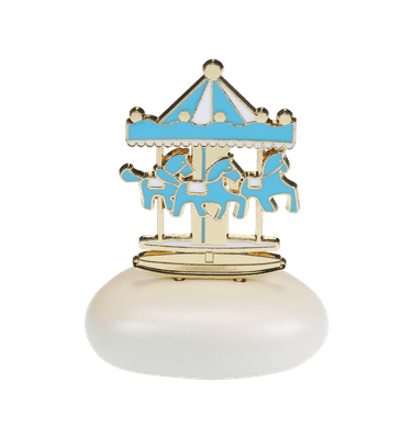 Μπομπονιέρα Βάπτισης Carousel Γαλάζιο σε Βότσαλο
