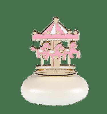 Μπομπονιέρα Βάπτισης Carousel Ροζ σε Βότσαλο