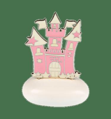 Μπομπονιέρα Βάπτισης Κάστρο Ροζ σε Βότσαλο