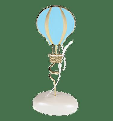 Μπομπονιέρα Βάπτισης Αερόστατο Γαλάζιο σε Βότσαλο