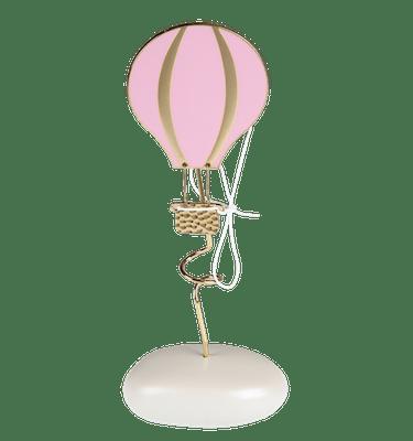 Μπομπονιέρα Βάπτισης Αερόστατο Ροζ σε Βότσαλο