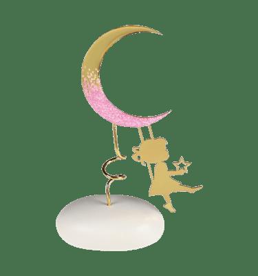 Μπομπονιέρα Βάπτισης Κορίτσι με Φεγγάρι σε Βότσαλο
