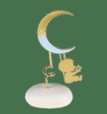 Μπομπονιέρα Βάπτισης Αγόρι με Φεγγάρι σε Βότσαλο