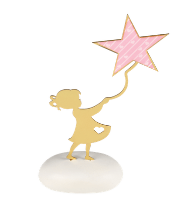 Μπομπονιέρα Βάπτισης Κορίτσι με Αστέρι σε Βότσαλο