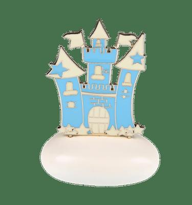 Μπομπονιέρα Βάπτισης Κάστρο Γαλάζιο σε Βότσαλο