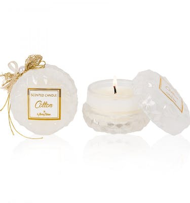 Αρωματικό Κερί Στρογγυλό  Γυάλινο cotton