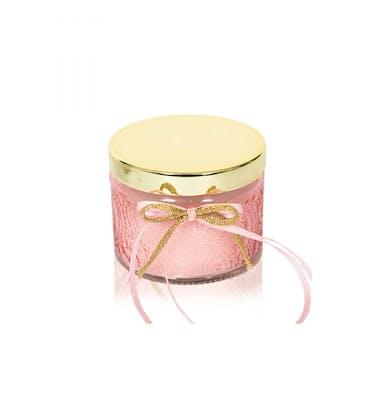 Κερί Cherry σε φοντανιέρα με χρυσό καπάκι