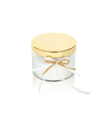 Κερί Jasmine σε φοντανιέρα με χρυσό καπάκι