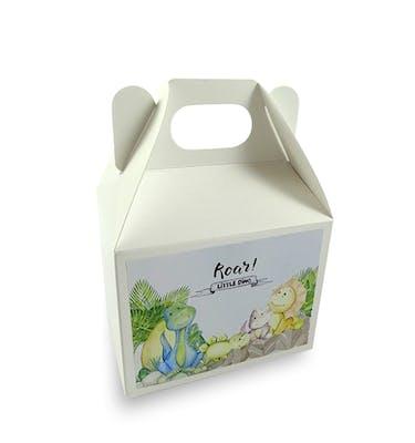 Lunch Box Λευκό Μεσαίο Με Αυτοκόλλητο 12x8x9