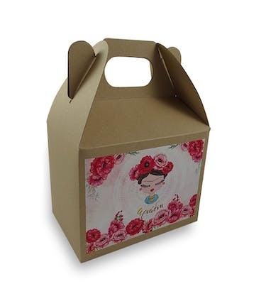 Lunch Box Craft Μεσαίο Με Αυτοκόλλητο 12x8x9