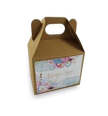 Lunch Box Craft Μεγάλο Με Αυτοκόλλητο 18x12x14