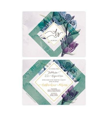 Προσκλητήριο Γάμου Tulips