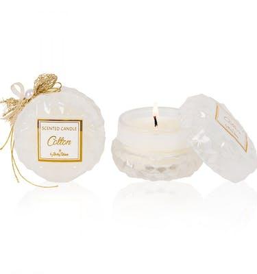Αρωματικό Κερί Στρογγυλό  Γιάλινο cotton