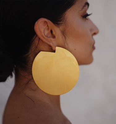 "Σκουλαρίκια  ""Discos"" Oversized Earrings"