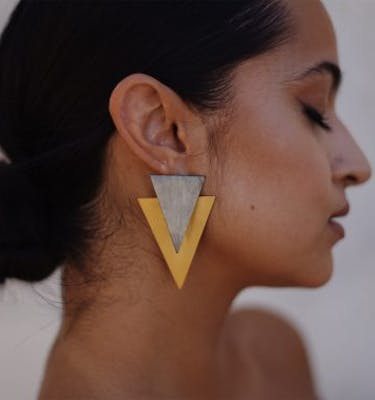"Σκουλαρίκια ""Triangle"" Ear Jacket Earrings"