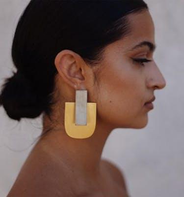 """Σκουλαρίκια """"Rectangle"""" Ear Jacket"""
