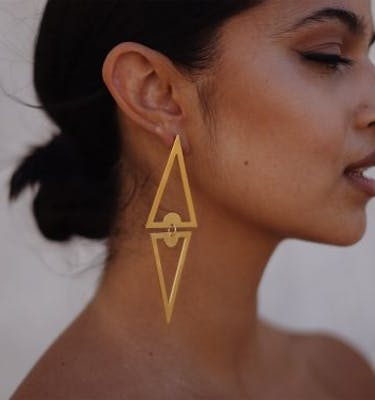 "Σκουλαρίκια ""Double Triangle"" Drop Earrings"