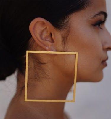 """Σκουλαρίκια """"Square Hoops"""" Earrings"""