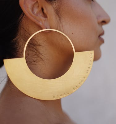 "Σκουλαρίκια ""Half-Done"" Oversized Earrings"