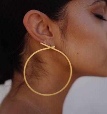"""Σκουλαρίκια """"The Knot"""" Hoop Earrings"""