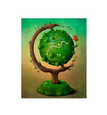 Ευχετήρια Κάρτα Χωρίς Μήνυμα Big Tree