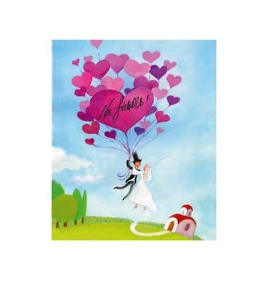 Ευχετήρια Κάρτα Γάμου Balloon Hearts