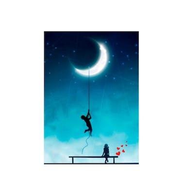 Ευχετήρια Κάρτα Χωρίς Μήνυμα Moonlight