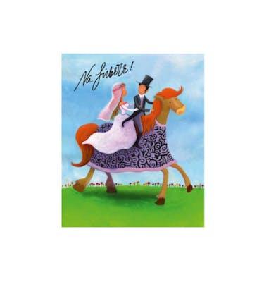 Ευχετήρια Κάρτα Γάμου Horse Ride