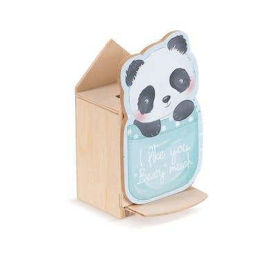 Ξύλινος Κουμπαράς Panda