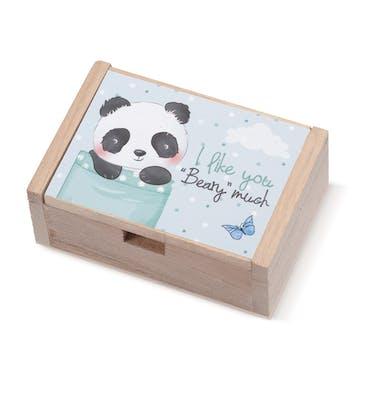 Ξύλινο Κουτάκι Panda