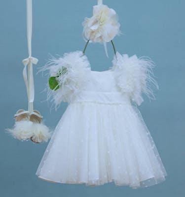 Βαπτιστικό Φόρεμα Poluniki 9332