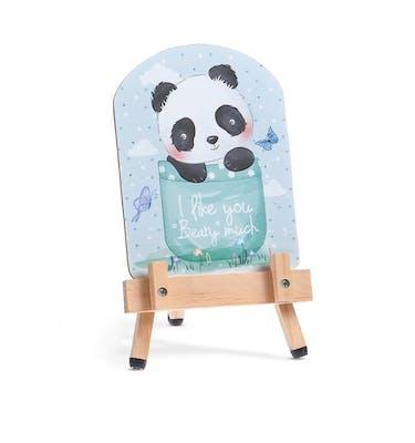 Μπομπονιέρα Βάπτισης Καδράκι Με Καβαλέτο Panda