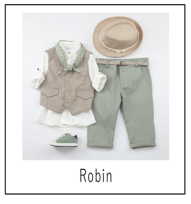 Βαπτιστικό Κοστούμι Robin 9434