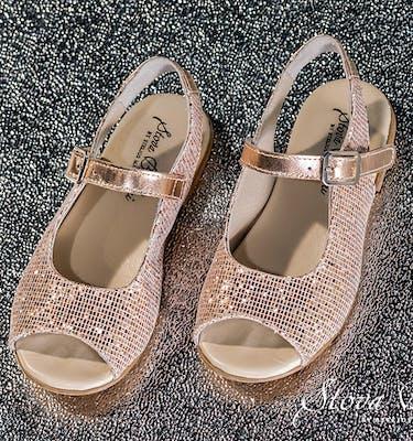 Βαπτιστικά Παπούτσια SS2021 Peep Toe Glitter