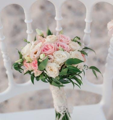 White Pink Βouquet Νυφικό Μπουκέτο