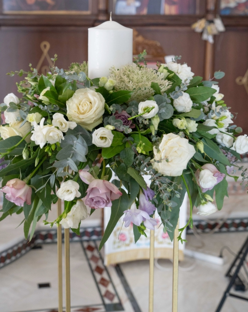 Λαμπάδες - Ανθοστείλες Γάμου